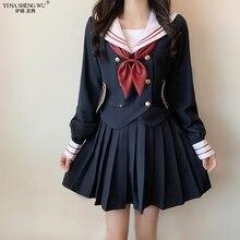 Costume Sailor-Suit Student-Uniform Hell Girl JK Cosplay Anime Japanese Bow-Tie Devil