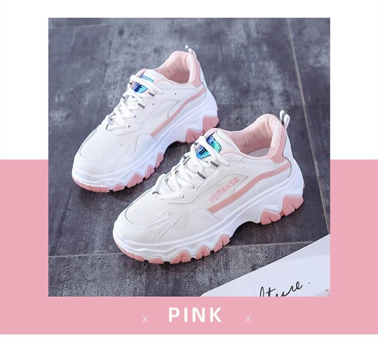 Mulher chunky tênis 2020 plataforma sapatos de