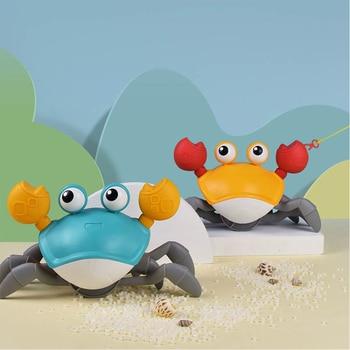 Kid Cartoon Wind Up Clockwork Float Crab Swimming Water Play Game Baby Bath Toy Beach Toys недорого