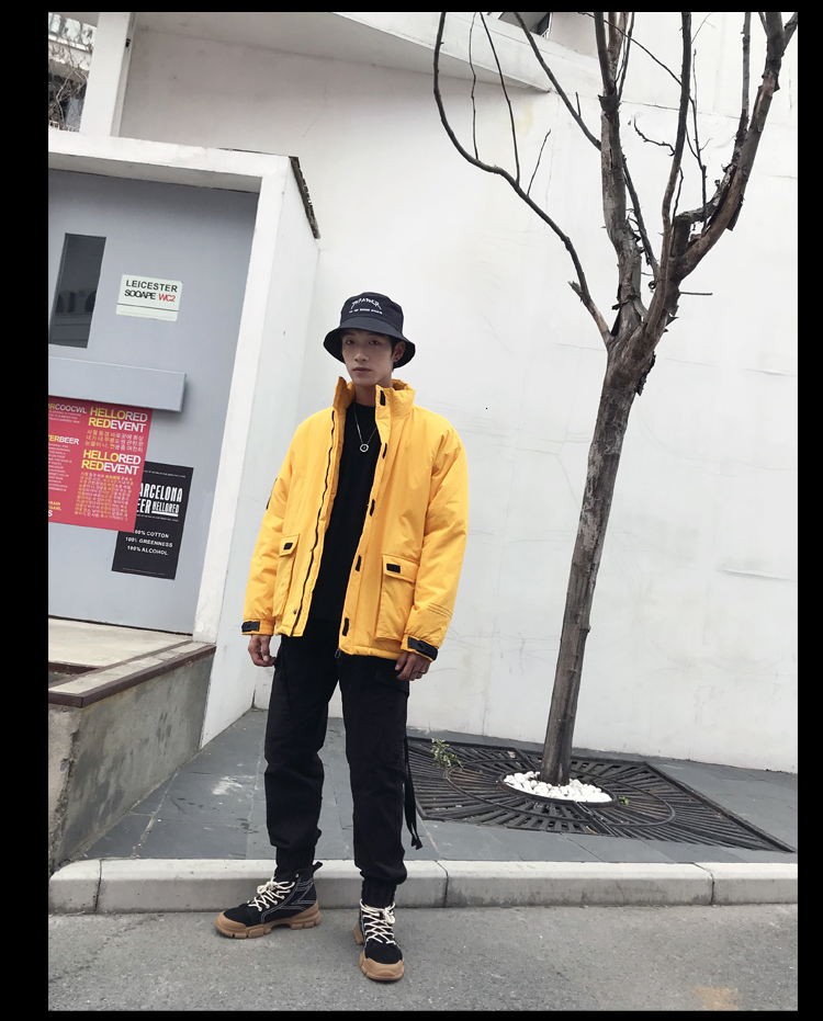 Men's Quality Student Winter Clothes Jacket Men Parka Thick Warm Outwear Korean Youth Streetwear Hip Hop Japan Style Harajuku 19