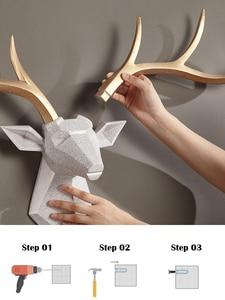 Image 5 - [MGT] Nordic Lucky Deer Head Wallแขวนสร้างสรรค์กวางกวางจี้ห้องนั่งเล่นห้องรับประทานอาหารพื้นหลังตกแต่ง
