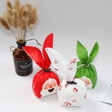 Vrolijk Kerstfeest Kerstman Konijn Lange Oor Sweets Party Goodie Bags Verpakking Cake Gift Bag Apple Verpakking Snoep Cookie Aanwezig