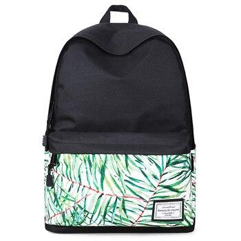 Women Fashion Printed Backpack Canvas School Bag For Teenage Girl Student Bookbag Travel Laptop Back Bag  Black Bagpack Rucksack bubm student school bag travel bag fashion laptop bag backpack fit up to 15 laptop business bag laptop portable black page 4