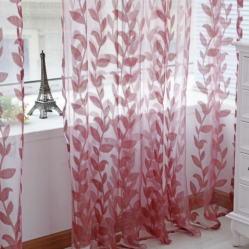 4-1 м х 2 м двери окна шарф прозрачные листья напечатанные занавески драпировка панель тюль вуаль подзоры смотреть на Алиэкспресс Иркутск в рублях