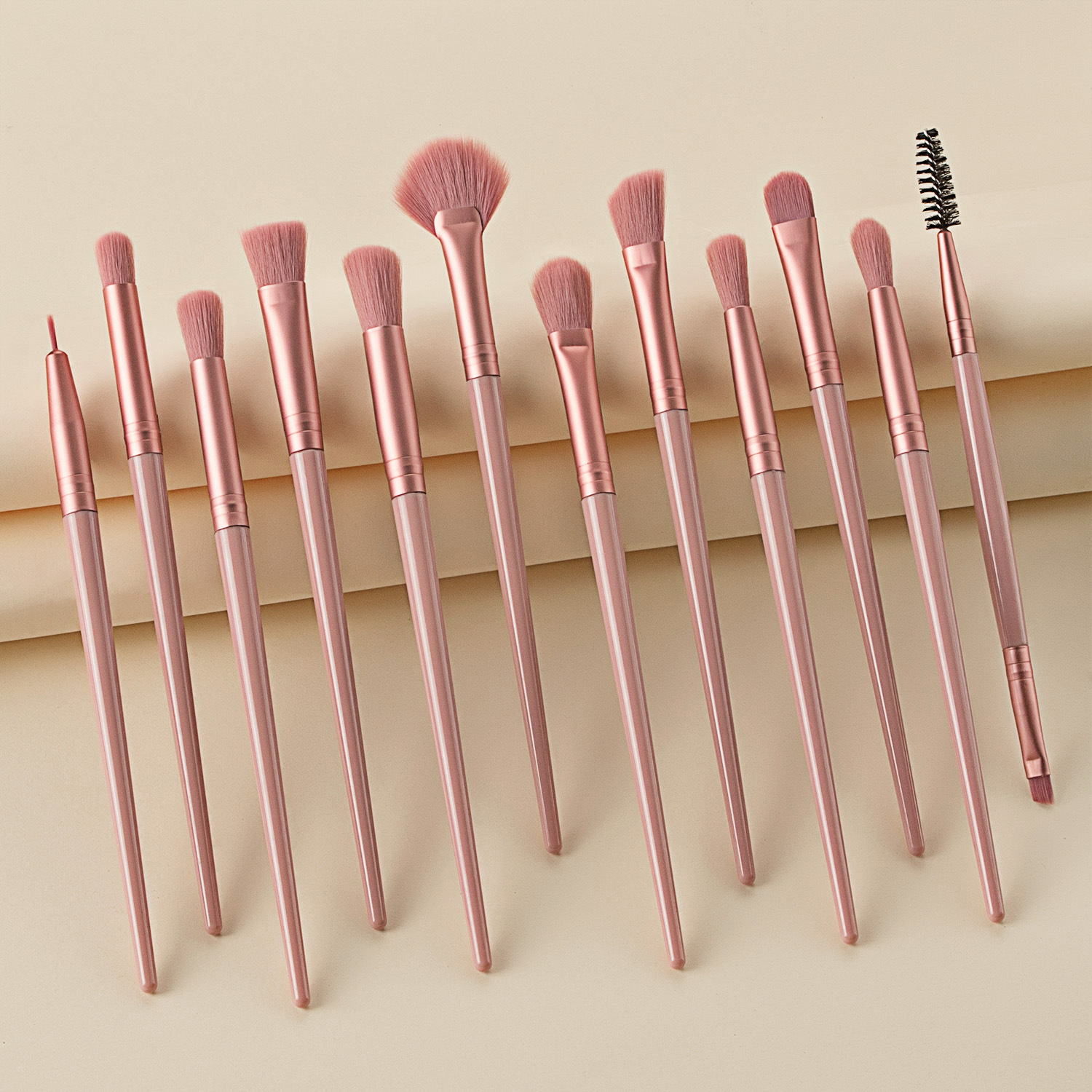 12PCS Makeup Brushes Set Powder Blush Fan Brush Eyeshadow Blending Brush Shading Eyebrow Contour Makeup Set Pinceis De Maquiagem
