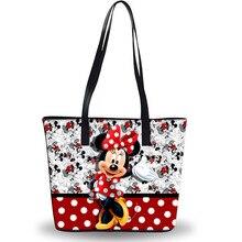 Disney Микки сумки с изображением мыши плечо мультфильм леди сумка Большой Вместимости Сумка Женская водонепроницаемая сумка модная ручная дорожная пляжная сумка