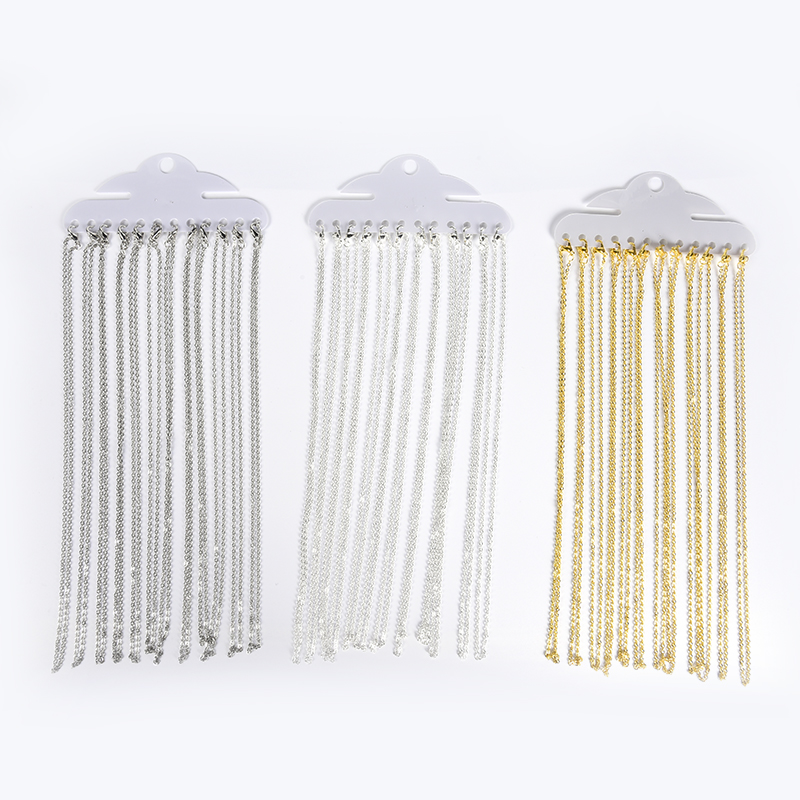 12Pcs/Lot 40cm Necklace Chains With Lobster Clasps For DIy Jewelry Findings Making Accessories Supplies