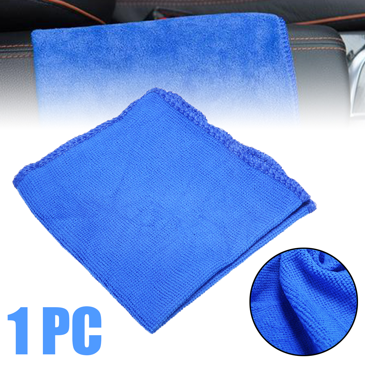 Image 2 - 1pc Car Soft Microfiber Car Care Cloths Absorbent Wash Cleaning Polish Towel Cloth 30*30cm Detailing Towels For Car Washing-in Sponges, Cloths & Brushes from Automobiles & Motorcycles