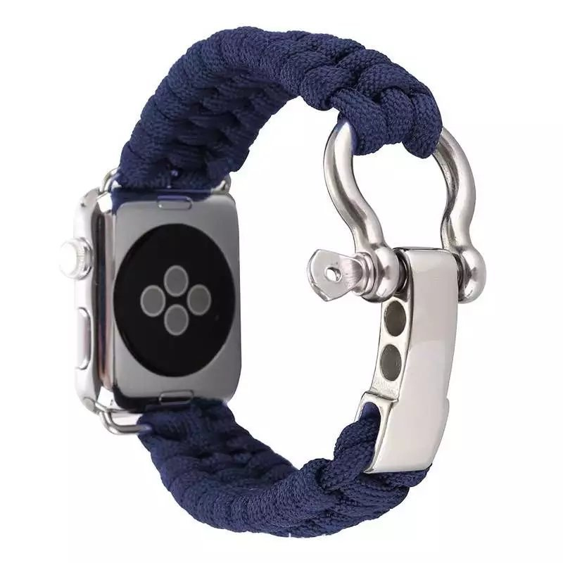 Suitable For Apple Watch APPLE Watch Of Watch Strap Outdoor Nylon Parachute Cord Woven Belt 38 Mm/42 Size