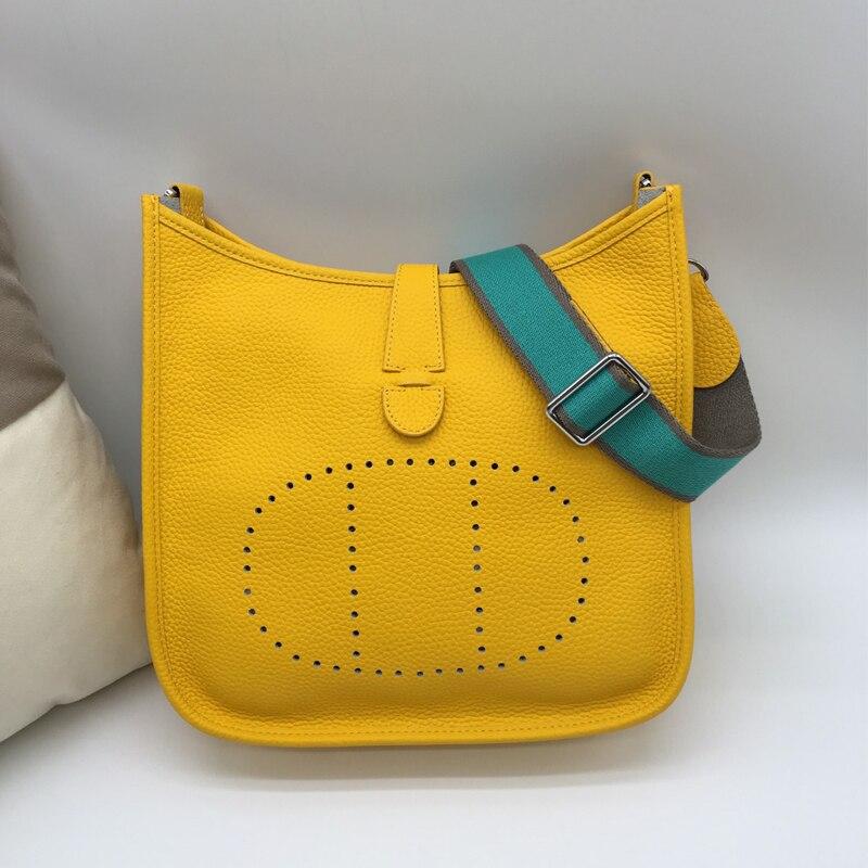 Bolso diagonal de cuero Eveline gran correa de hombro de cuero bolso de hombro de moda nuevo H original lychee patrón - 6
