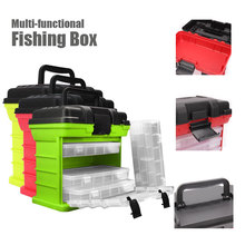 Portable Fishing box 4-Layer Lure Container Box Durable Tackle Storage Case For Fish lure/Line/Reel