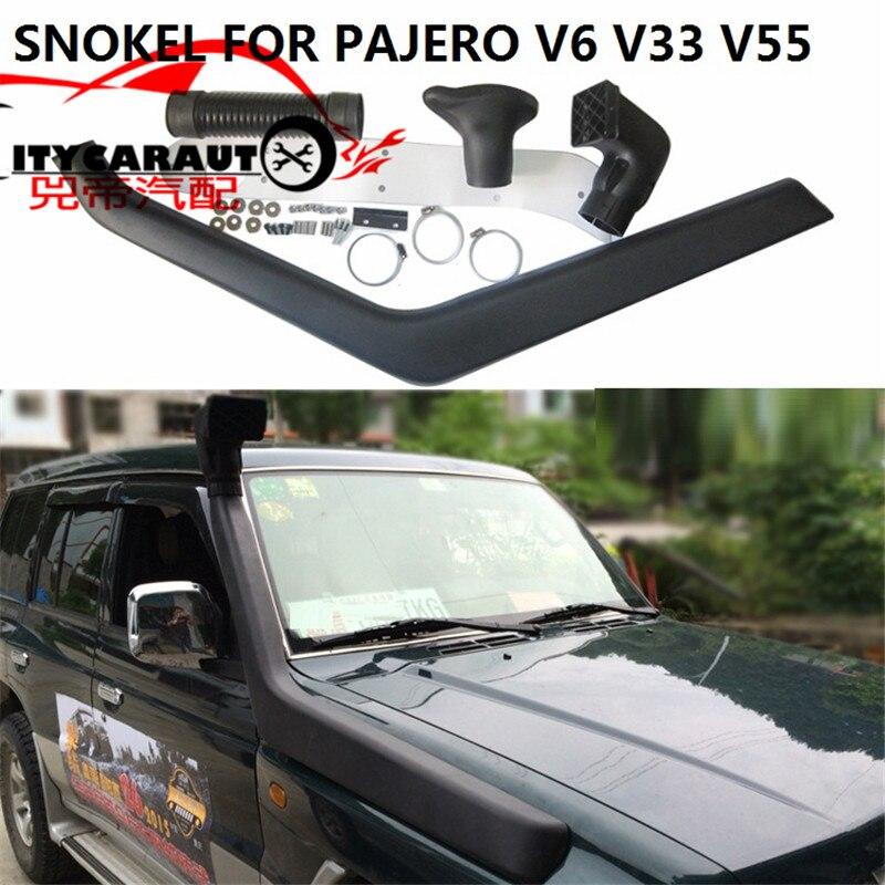 CITYCARAUTO AUTO FLUSSO D'ARIA SNORKEL KIT Misura PER MITSUBISHI PAJERO V33 V55 V6 Aria di Aspirazione COLLETTORE di LLDPE Snorkel Kit Set SMV33