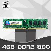 VEINEDA DDR2 4GB800MHz PC2 6400 240Pin Memory Dimm ddr2 4 gb 667 PC5300 just For AMD Desktop Ram