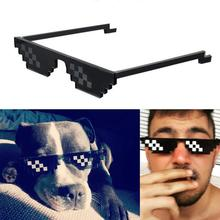 Mosaic Sunglasses Makeup Toy Thug Life Glasses Treat With It Pixel Women Men Black Funny