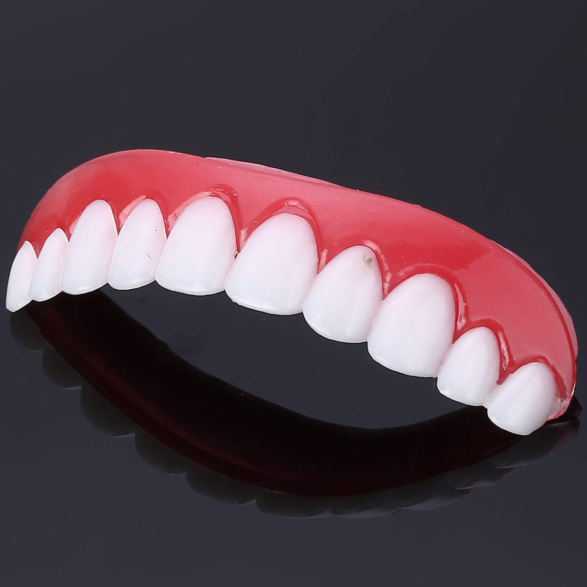 PP Smile Teeth Veneer Upper Tooth Cover Perfect Top Teeth Veneer Snap Top Veneers Instant Cosmetic Teeth Cover Whitening Braces