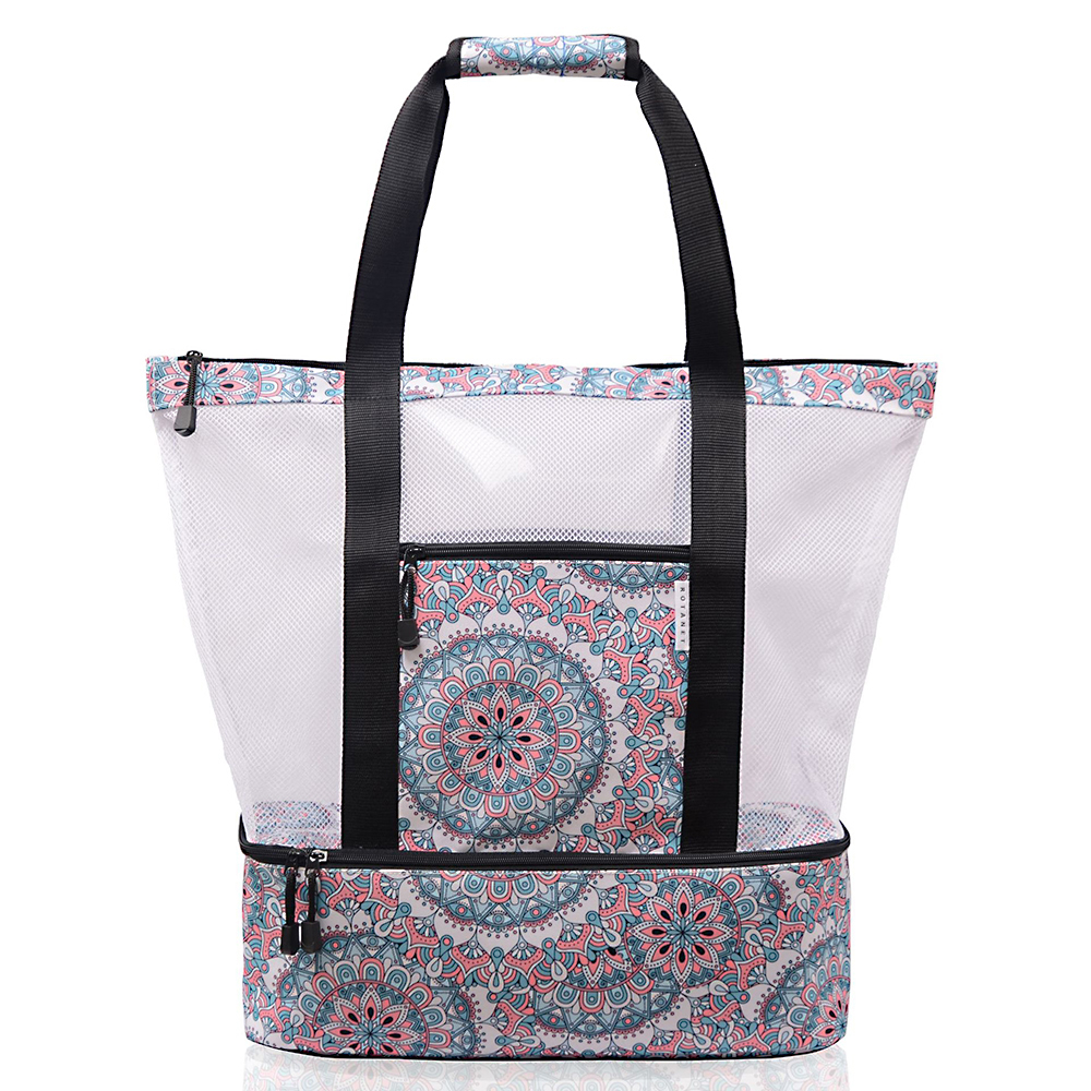 18L Hot Sale Flamingo Printed multi function ice pack shoulder bag Casual Bag Women Canvas Beach Bags Female Printed Tote D25 in Storage Bags from Home Garden