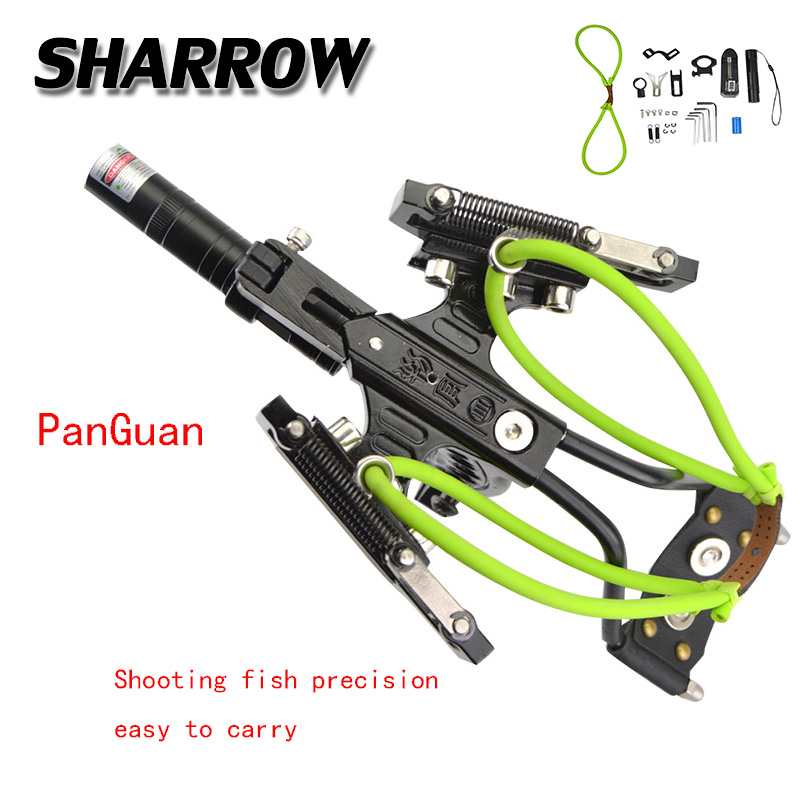 1 Set Archery High Precision Fishing Slingshot  Shooting Fish Artifact Professional Novice Hunting Accessories