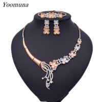 African Jewellery sets Dubai Jewelry Sets for women Romantic Wedding necklace Jewelry sets fashion Design for women party gifts