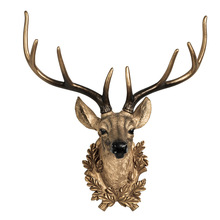 Nordic 3D Deer Head Lucky Wall Hanging Pendant Sika Deer Animal Home Wall Decoration Living Room Creative Background