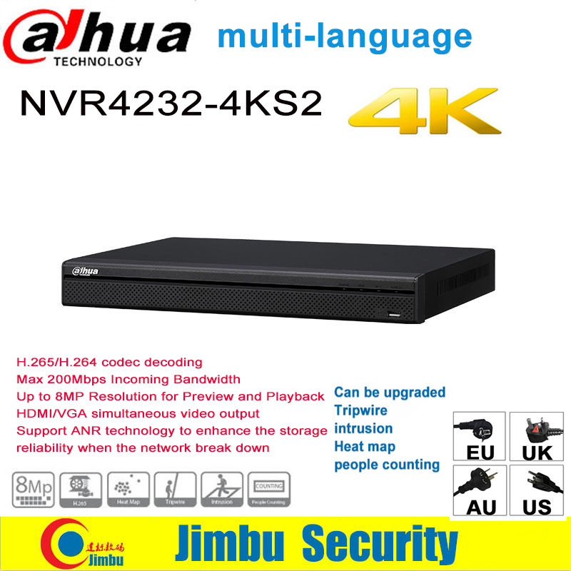 大華 NVR 4 18k 32CH NVR4232 4KS2 H.265/H.まで 8MP 解像度最大 200Mbps サポート ANR 技術の dvr ip カメラ  グループ上の セキュリティ & プロテクション からの 監視ビデオレコーダー の中 1