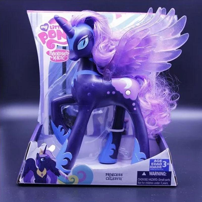 Mon petit poney aprincesse Luna princesse Celestia soleil princesse Celestia PVC figurine poney poupée jouets enfants fille cadeaux 22cm