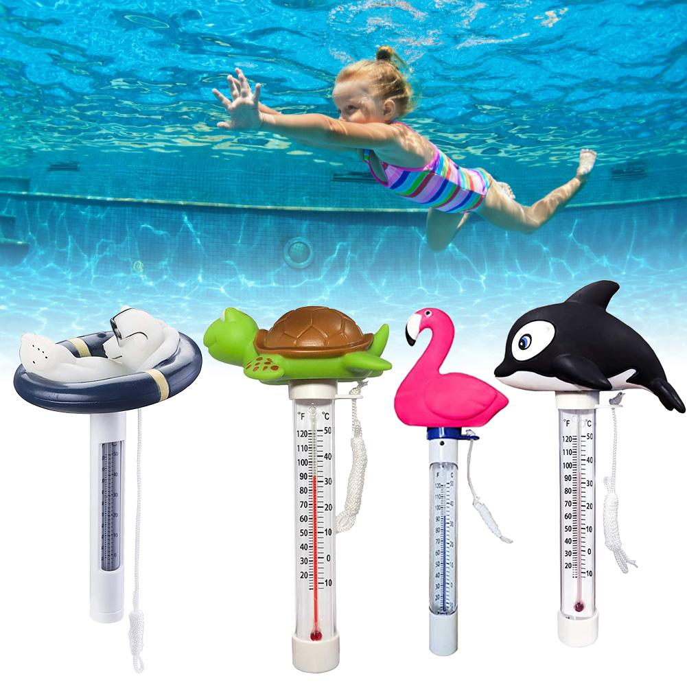 Floating Pool Thermometer Flamingo/Dolphin/Polar Bear Cute-shaped Bath/Water Spa Thermometer For Outdoor/Indoor Swimming Pools