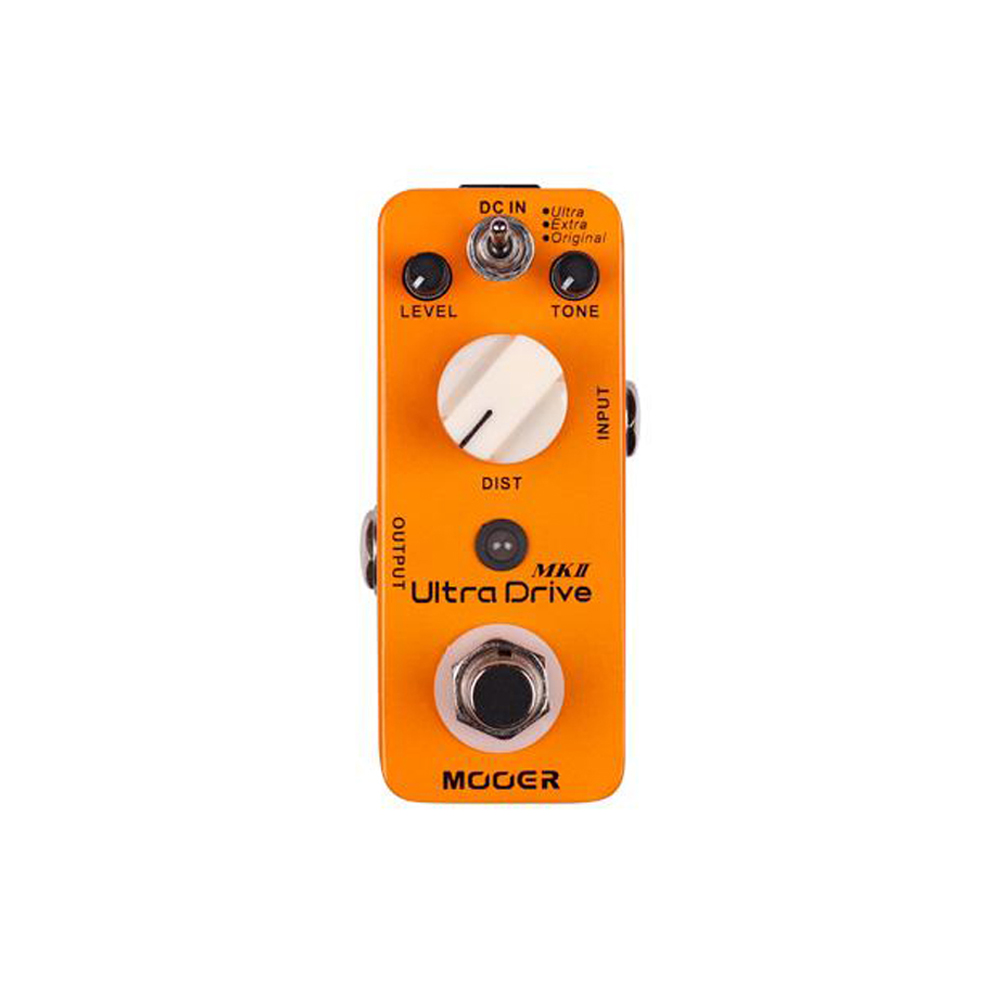 MOOER Ultra Drive MKII Distortion Guitar Pedal 3 Modes True Bypass Full Metal Shell MDS6 Yellow Effect Pedal(China)