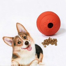Dog Bite-resistant Rubber Ball Chew Molar Toy Pet Cleaning Teeth Interactive Training Leaking Food Toys