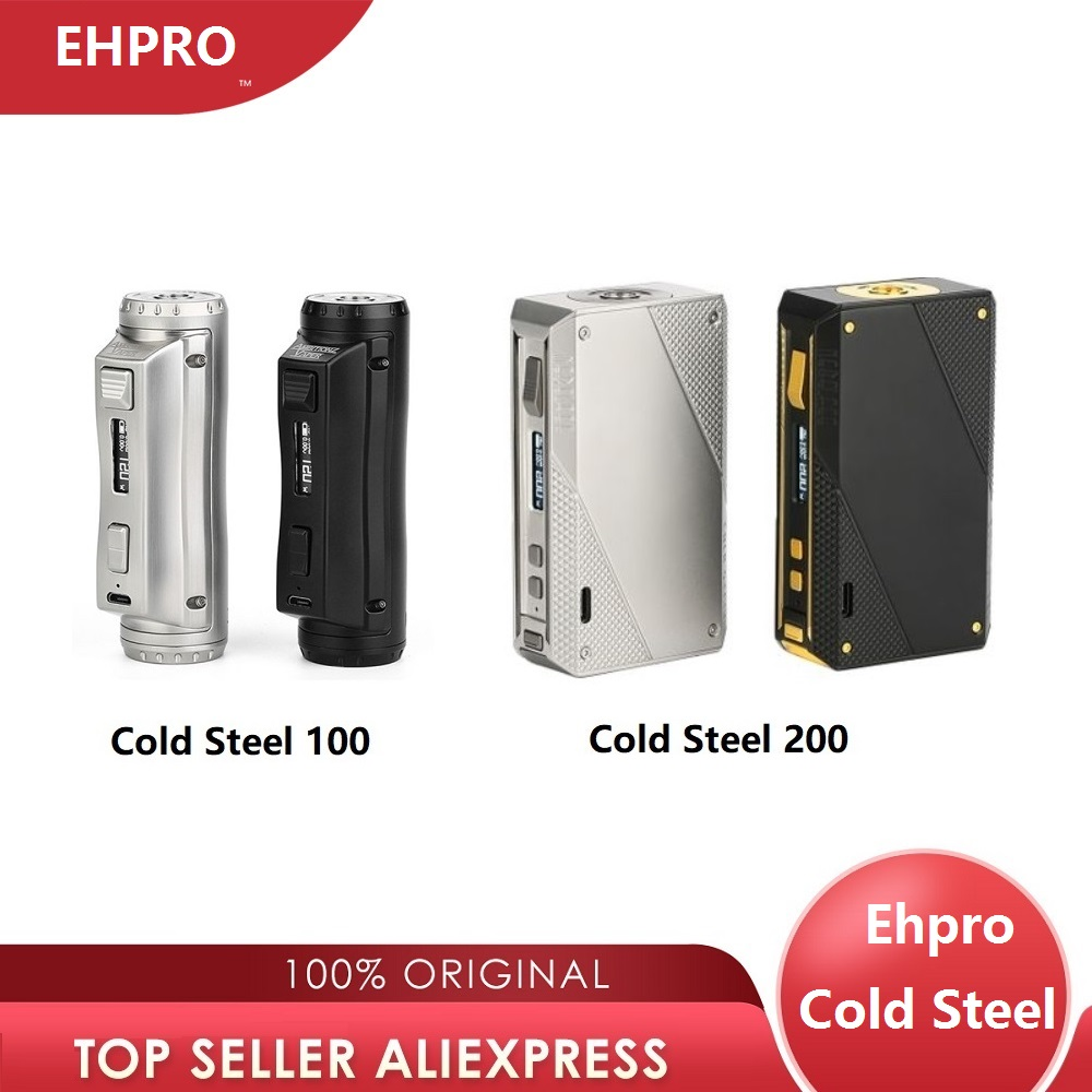 Hot Original Ehpro Cold Steel 100 Mod Vs Ehpro Cold Steel 200 Power By 18650 Battery Vape Vaporizer Vs Drag 2/ Gen Mod/ Shogun
