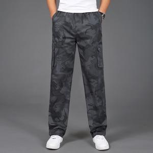 Image 2 - 2020 yeni Joggers erkekler sıcak satış rahat kamuflaj pantolon Homme yaz % 100% pamuk elastik rahat pantolon erkekler artı boyutu 5XL