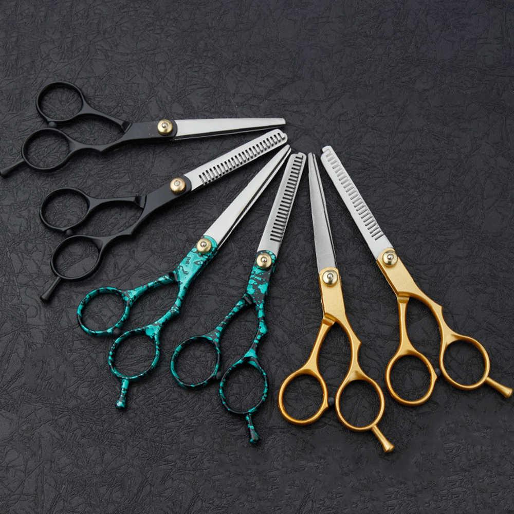 Profesjonalne 5.5 Cal ścinanie włosów nożyczki fryzjerskie nożyczki Salon nożyce do cieniowania nożyce fryzjerskie Cut Barber makas