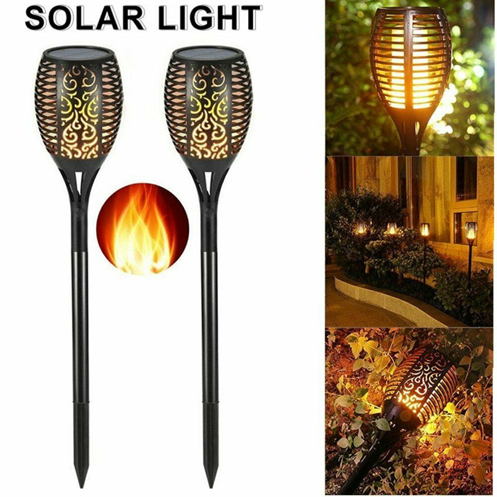 Led Solar Flame Light Flickering Waterproof Solar Led Light Outdoor Landscape Lawn Lamp Garden Decoration Holiday Lighting