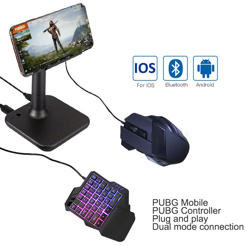 G3 Blluebooth Phone Mouse Keyboard Converter PUBG Game Plug And Play Converter
