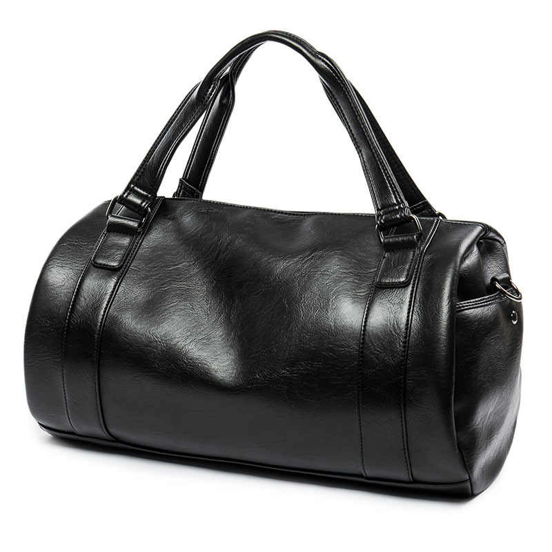 2019 Большая вместительная мужская сумка черная PU кожаная сумка-тоут для путешествий сумки мужские багажные сумки мужской большой чемодан сумка на плечо