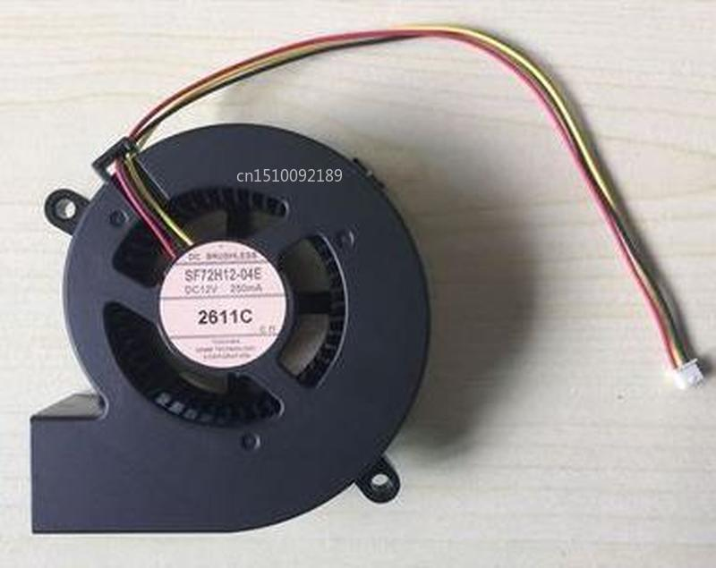 FOR SF72H12-04E DC 12V 250mA 3-wire 3-pin Connector Server Blower Cooling Fan Free Shipping