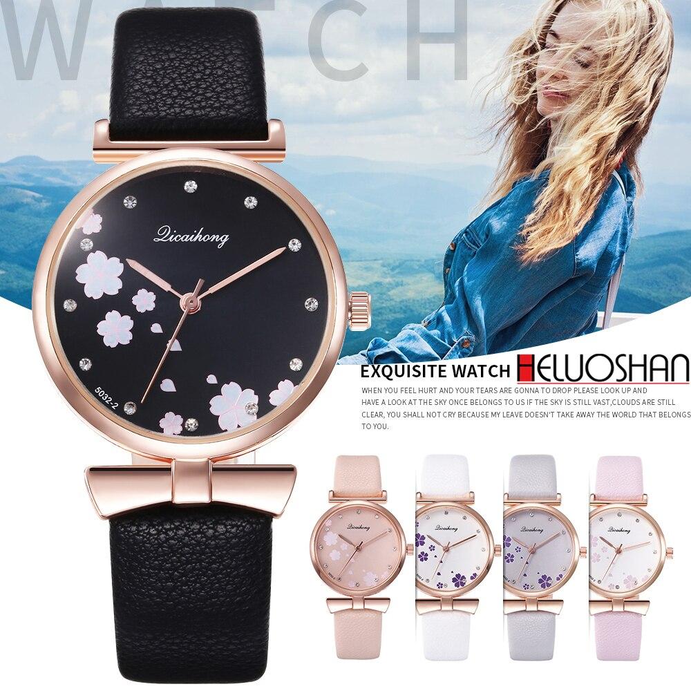 2018 Fashion Casual Luxury Brand Leather Creative Relogio Feminino Woman Wristwatch Ladie Quartz Watch Women Watches Reloj Mujer