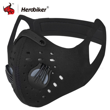 HEROBIKER Motorcycle Face Mask Balaclava Windproof Ear Bicycle Warm Half Masks Dust