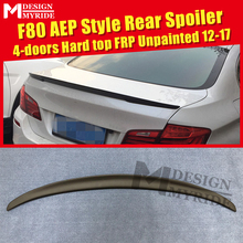 For BMW F80 M3 Spoiler FRP Tail Wing Unpainted 3-Series 325i 328i 330i 4-Door Hard Top AEP Style Black 2012-2017