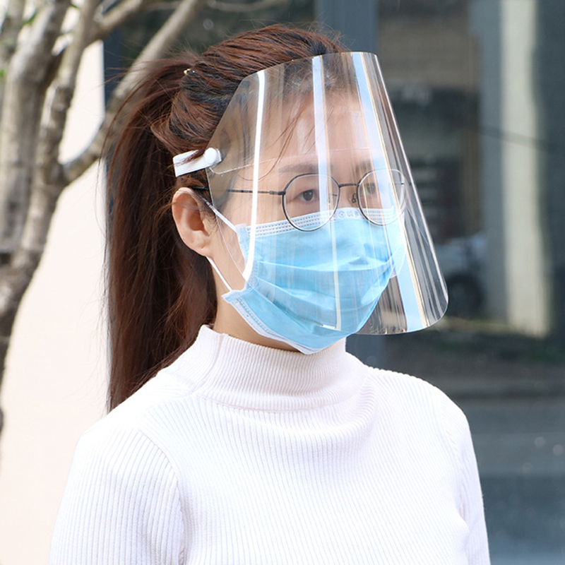 Creative Protective Face Shield Transparent Anti Droplet Dust-proof Protect Full Face Covering Mask  Safe Virus Protection Mask