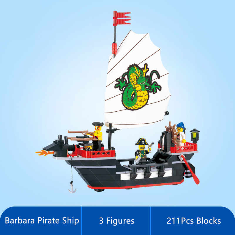 Chiarisca 211Pcs Pirate Ship Barca del Drago Città Creatore Mattoni LegoINGs Building Blocks Set FAI DA TE Lepinblocks Giocattoli per i bambini
