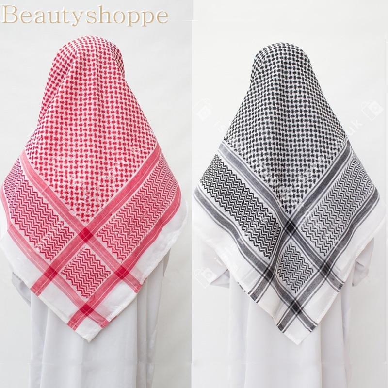 Мусульманские мужские традиционные костюмы, 3 цвета, мужской Клетчатый головной платок, мусульманский тюрбан, хиджабы, Дубай, Арабская Рама...