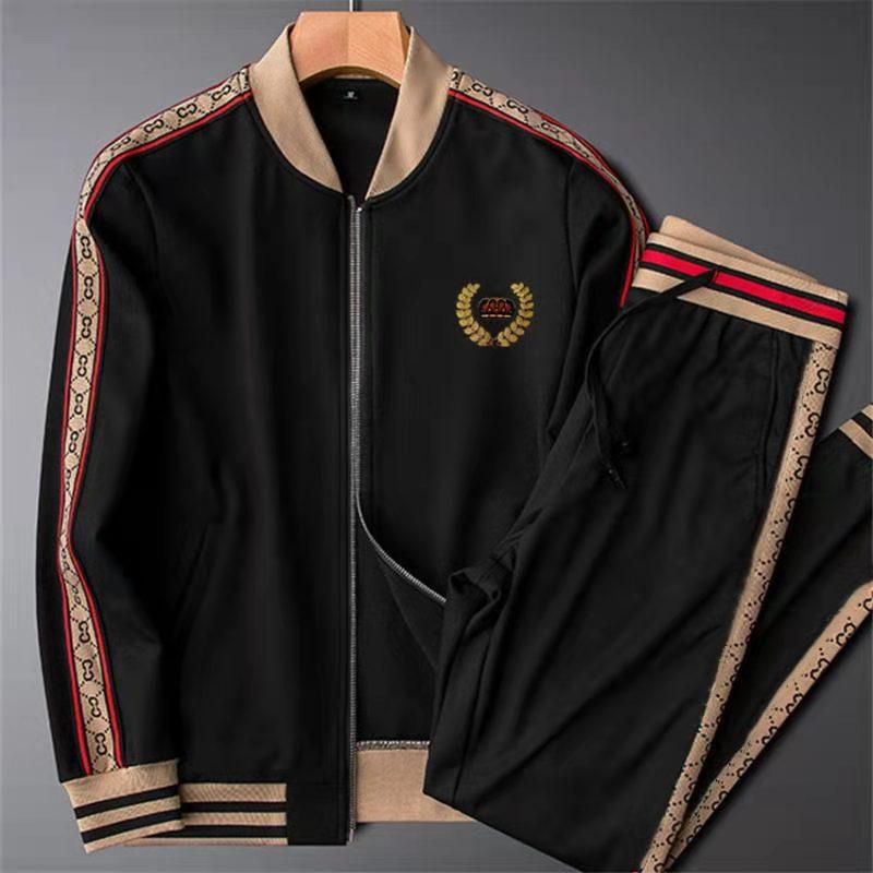 2021 новый высококачественный мужской модный костюм для бега и улицы в стиле хип-хоп повседневный спортивный мужской костюм