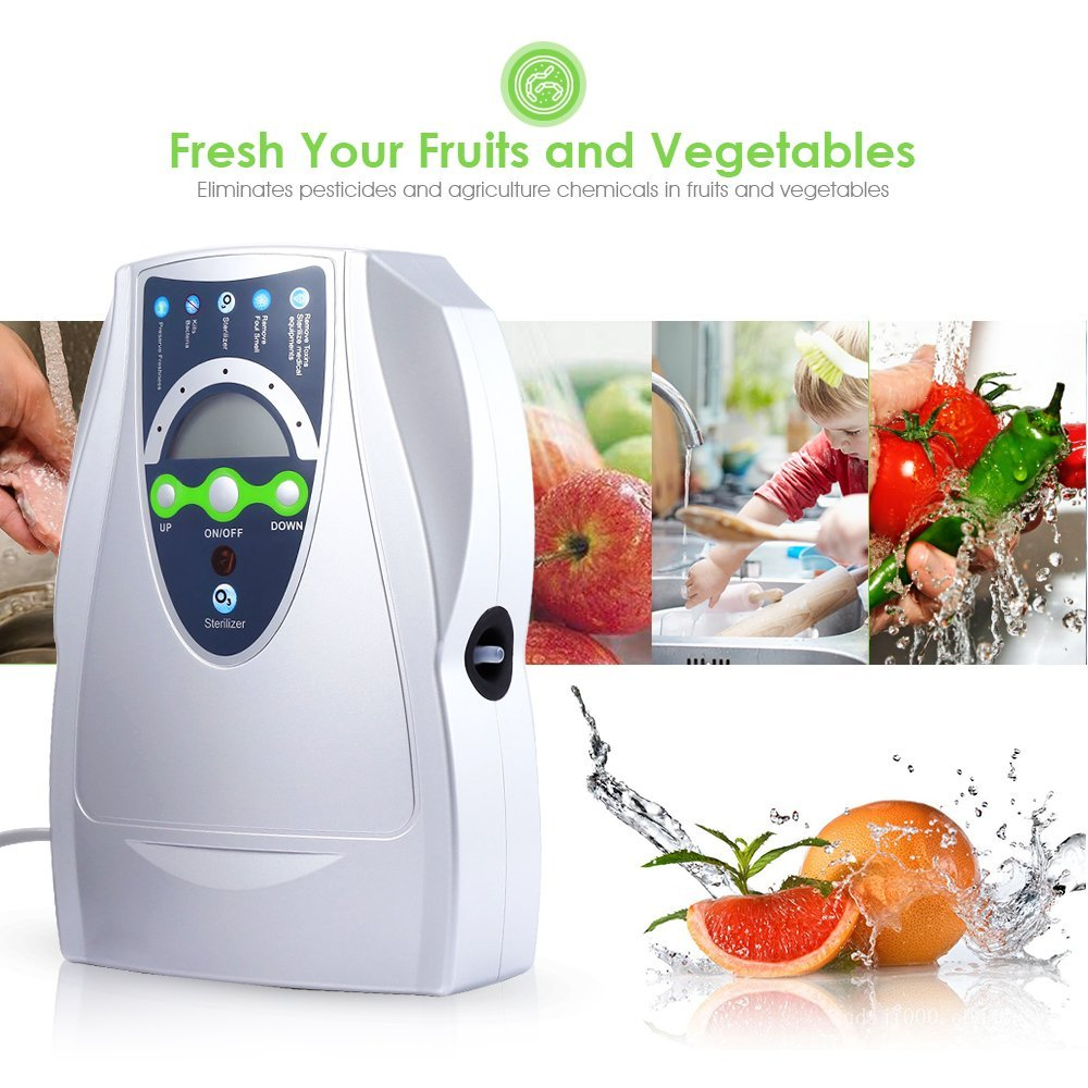 Portable Ozone Generator 500mg Oxygen Machine Ozonizer Air Water Air Purifier Vegetable Washer Ozonator Disinfector