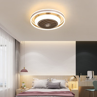 LED Negative Ion Fan Light Modern Minimalist Restaurant Ceiling Fan Light Living Room Invisible Ceiling Bedroom Fan Light