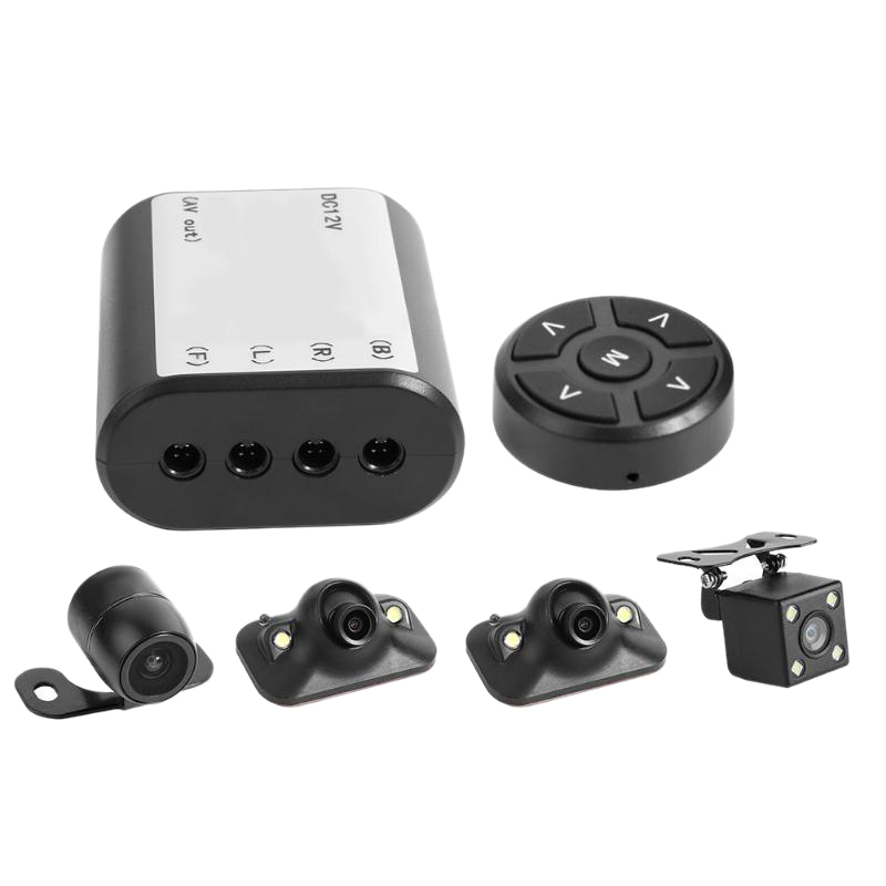 360 Degree Panoramic Car Bird View System 4 Camera Car DVR Recording Panoramic Parking System Vehicle Safety Accessories