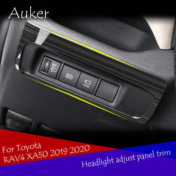 For Toyota RAV4 XA50 2019 2020 Car headlight light switch headlight adjustment button control panel trim car styling image