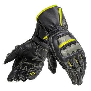 Image 2 - New 4 Colors 100% Genuine Leather Dain Full Metal 6 Motorcycle Gloves Racing Long Gloves Driving Motorbike Cowhide Gloves