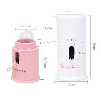 Hamster Water Dispenser Automatic Ceramics Drinking Bottle Device Small Animals Parrots Birds Leak-Proof Quiet Hydrate Feeder 4
