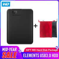 Disco duro portátil Western Digital WD elementos 1TB 2TB 4TB disco duro externo 2,5 pulgadas USB 3,0 disco duro Original para ordenador portátil
