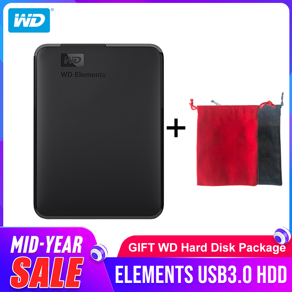 Western Digital WD Elements Portable hard drive 1TB <font><b>2TB</b></font> 4TB External <font><b>hdd</b></font> 2.5inch USB 3.0 Hard Drive Disk Original for PC laptop image
